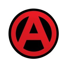 """Anarchy Simple Symbol 3.5"""" Button (100 pack)"""