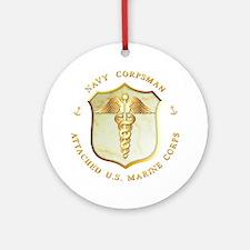 Navy Corpsman USMC Ornament (Round)