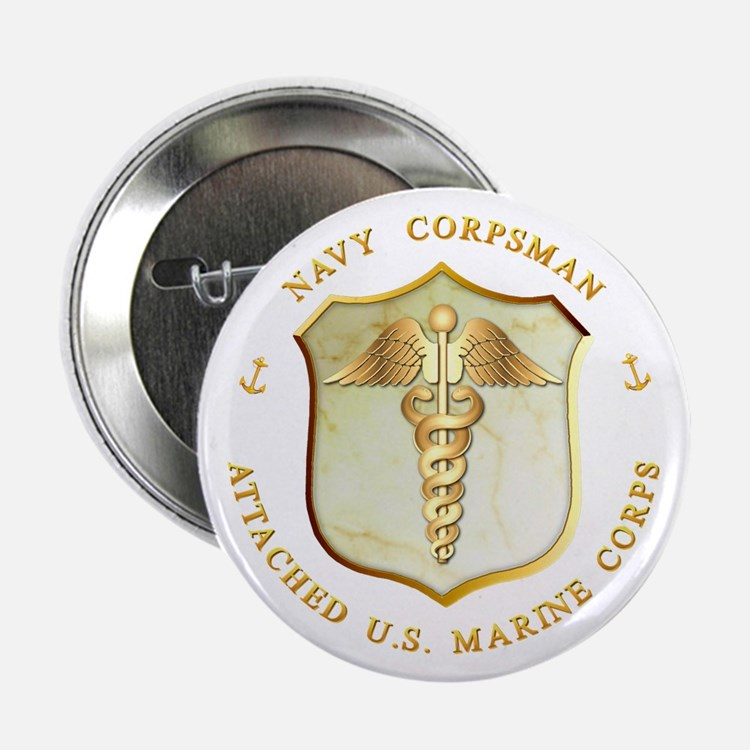 Navy Corpsman USMC Button