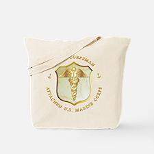 Navy Corpsman USMC Tote Bag
