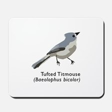 tufted titmouse Mousepad