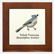 tufted titmouse Framed Tile