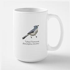 tufted titmouse Large Mug
