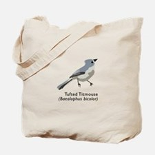 tufted titmouse Tote Bag