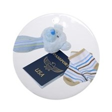 Baby Travels Ornament (Round)