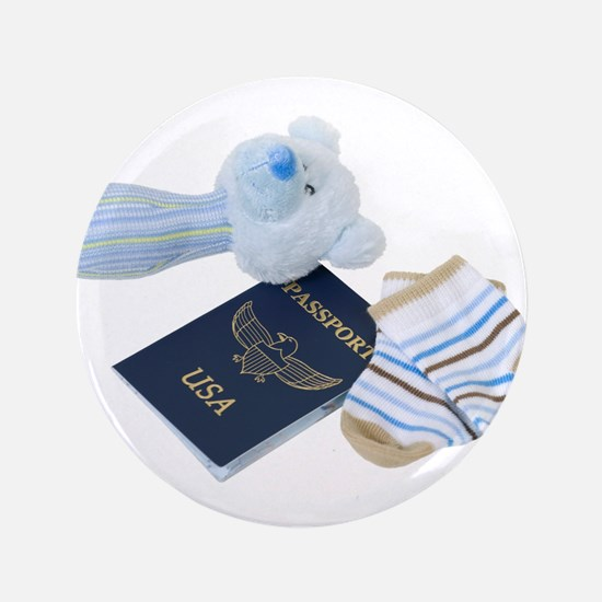 """Baby Travels 3.5"""" Button (100 pack)"""