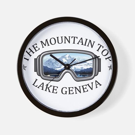 The Mountain Top at Grand Geneva Resort Wall Clock