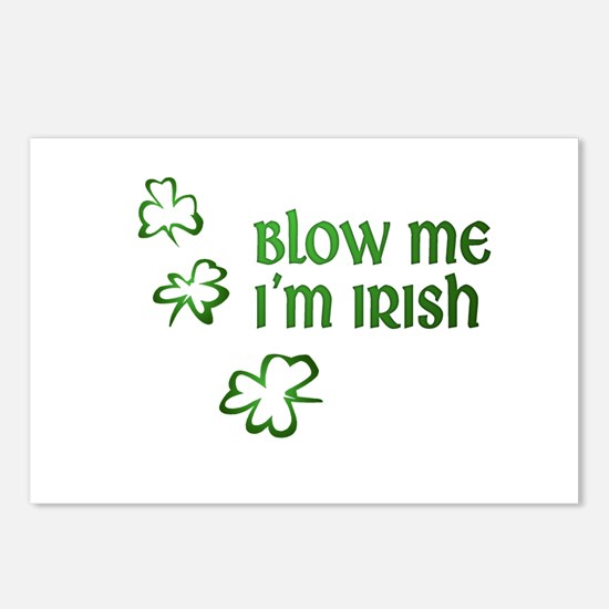 Blow Me I'm Irish Postcards (Package of 8)