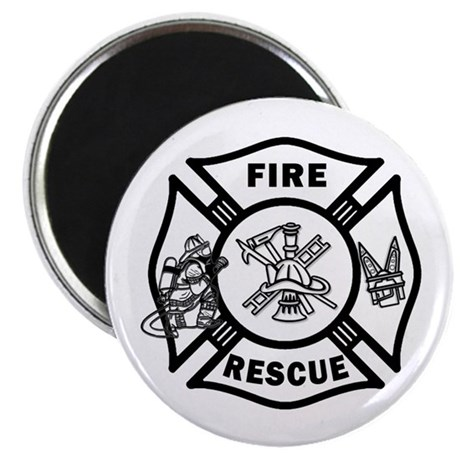 """Fire Rescue 2.25"""" Magnet (10 pack)"""