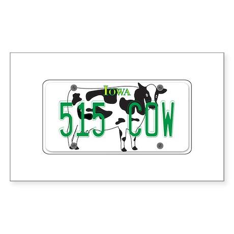 IA Cow Sticker (Rectangle)