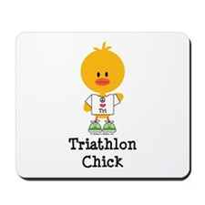 Triathlon Chick Mousepad