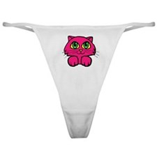 PINK KITTY Classic Thong