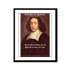 Spinoza Ethics Philosophy Framed Panel Print