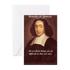 Spinoza Ethics Philosophy Greeting Cards (Package