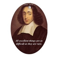 Spinoza Ethics Philosophy Oval Ornament