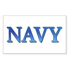 Navy Rectangle Decal