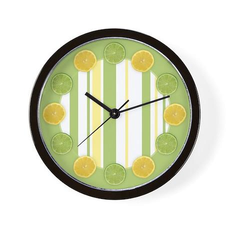 Lemon Lime Wall Clock