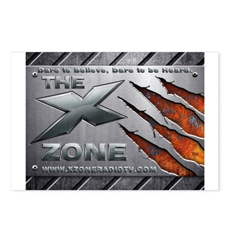 Brushed Steel - X ZONE logo Postcards (Package of