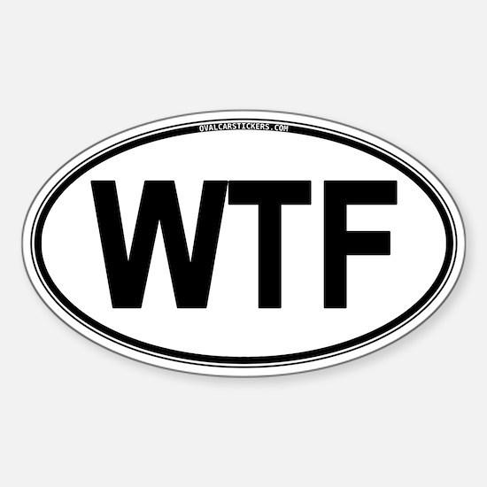 WTF Oval Sticker (Oval)