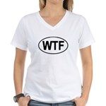 WTF Oval Women's V-Neck T-Shirt