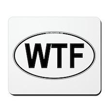 WTF Oval Mousepad