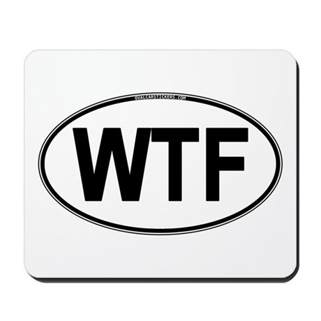 WTF Oval Mousepad