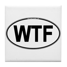 WTF Oval Tile Coaster