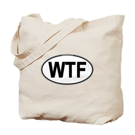 WTF Oval Tote Bag
