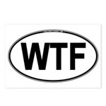 WTF Oval Postcards (Package of 8)