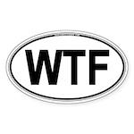 WTF Oval Sticker (Oval 50 pk)
