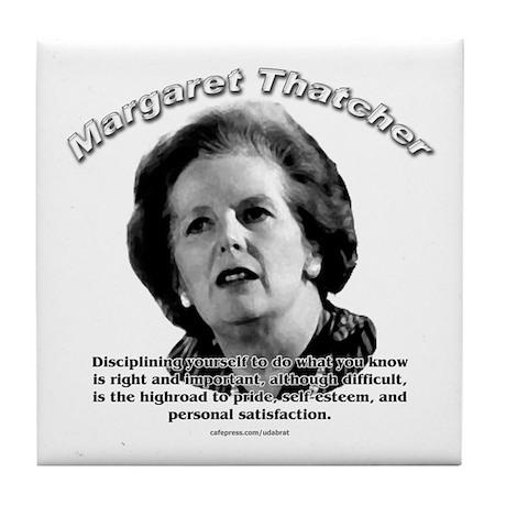 Margaret Thatcher 01 Tile Coaster
