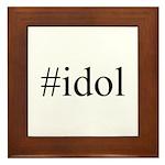 #idol Framed Tile