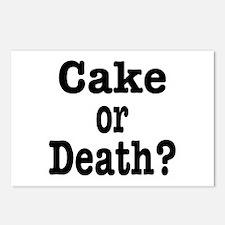 Cake or Death Black Postcards (Package of 8)
