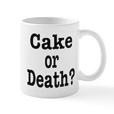 Cake or Death Black Mug