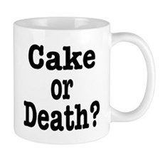 Cake or Death Black Small Mug