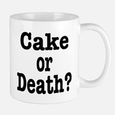 Cake or Death Black Small Small Mug