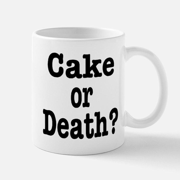 Cake or Death Black Small Small Mug