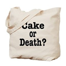 Cake or Death Black Tote Bag