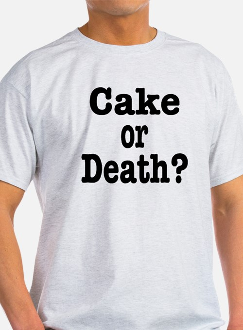 Cake or Death Black T-Shirt