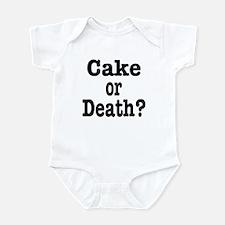Cake or Death Black Infant Bodysuit