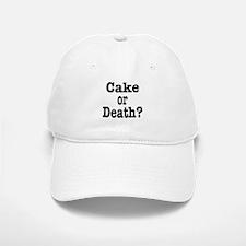 Cake or Death Black Baseball Baseball Cap