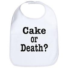 Cake or Death Black Bib
