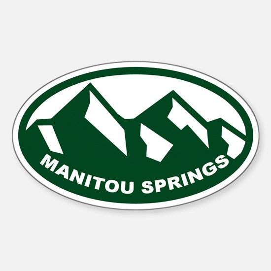 Manitou Springs Sticker (Oval)