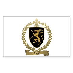 ASHIE Family Crest Sticker (Rectangle)