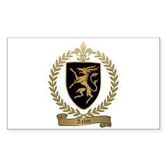 ASHIE Family Crest Sticker (Rectangle 50 pk)