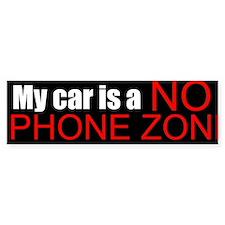 No Phone Zone Bumper Bumper Bumper Sticker