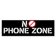 No Phone Zone Bumper Bumper Sticker