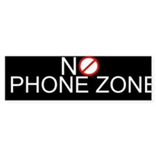 No Phone Zone Bumper Car Sticker