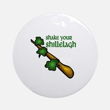 Shake Your Shillelagh Round Ornament