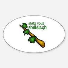 Shake Your Shillelagh Sticker (Oval)